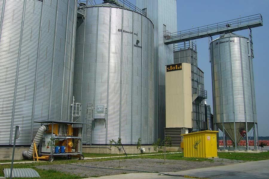 GRANIFRIGOR-Körnerkühlgerät an Siloanlage, © FRIGORTEC