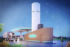 Visualisierung der LNG-Tankstelle, © BayWa