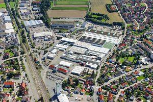 Die CLAAS Produktion in Bad Saulgau aus Vogelperspektive, © Claas