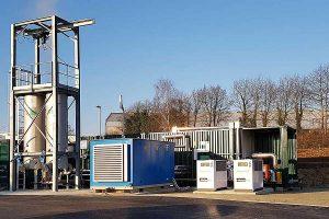 Zur Konditionierung des Biogases zu Biomethan hat WELTEC BIOPOWER eine Membrantechnik als kompakte Containerlösung integriert., © Weltec Biopower