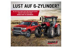 Case IH startet Sonderverkaufsaktionen und verlost einen Dodge RAM V6 Pick-up, © CASE IH