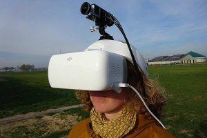Die Kuhbrille der LWK ermöglicht den AnwenderInnen ein Im-Moment-Sehen, ein visuelles Wahrnehmen der aktuellen Umgebung wie eine Kuh, © Benito Weise