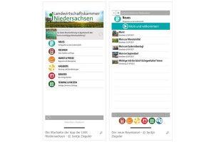 Screenshots 'LWK Niedersachsen-App', © Jantje Ziegeler